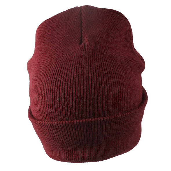 Long Beanie Hat Burgundy 5754
