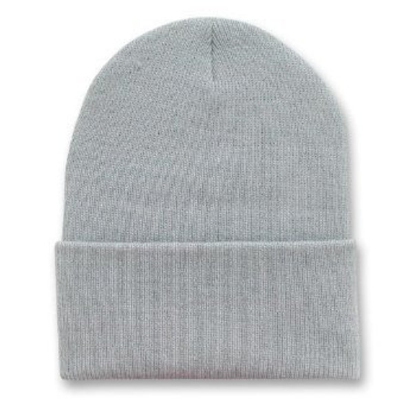 Long Beanie Hat Light Grey 5756