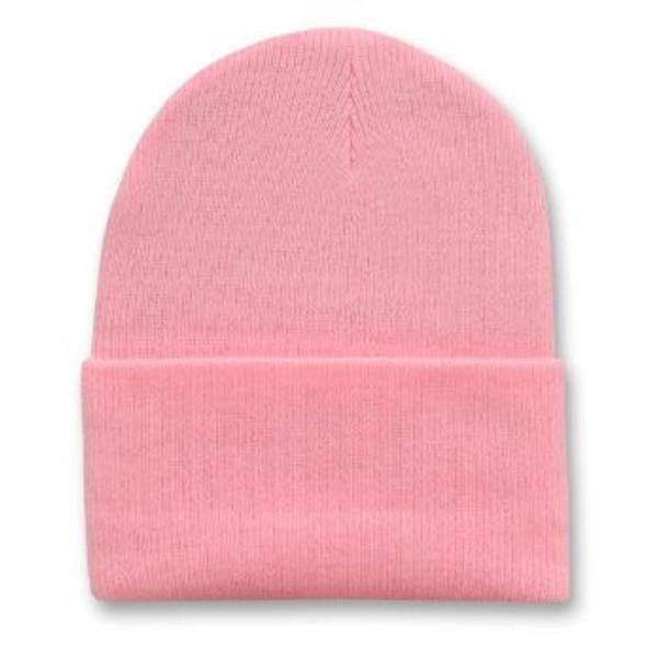 Long Beanie Hat Light Pink 5757