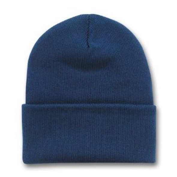 Long Beanie Hat Navy Blue 5758