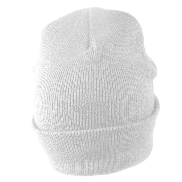 Long Beanie Hat White 5760