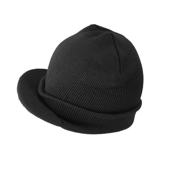 Beanie Visor Cap Black 5770