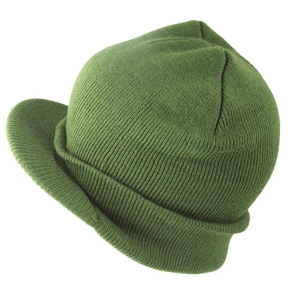 Beanie Visor Cap Olive Green 5771