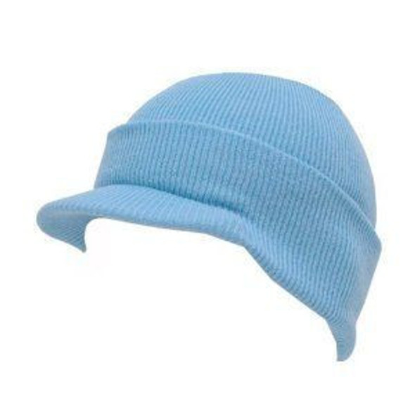 Beanie Visor Cap Light Blue 5772