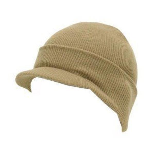 Beanie Visor Cap Tan 5776
