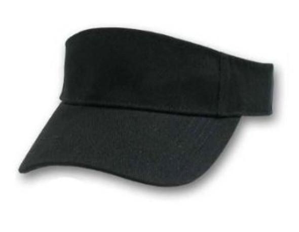 Sports Visors Black 12 PACK 5810A