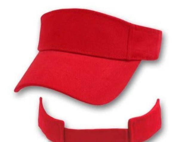 Sports Visor Red Adjustable 5812