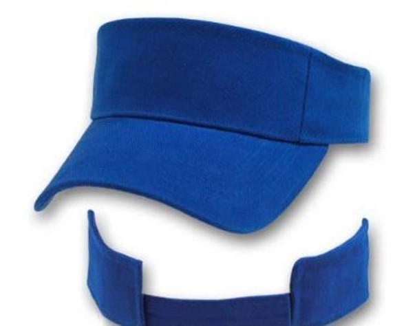 Adjustable Sports Visor Royal Blue 5814