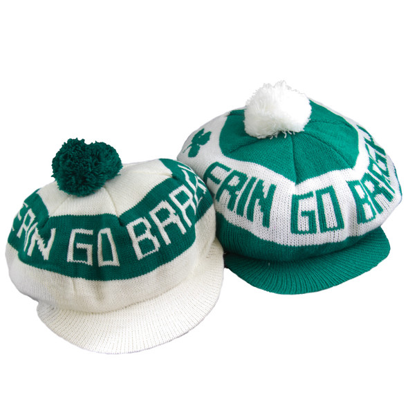 St Patricks Day Erin Go Bragh Irish Tam with White Brim 5878