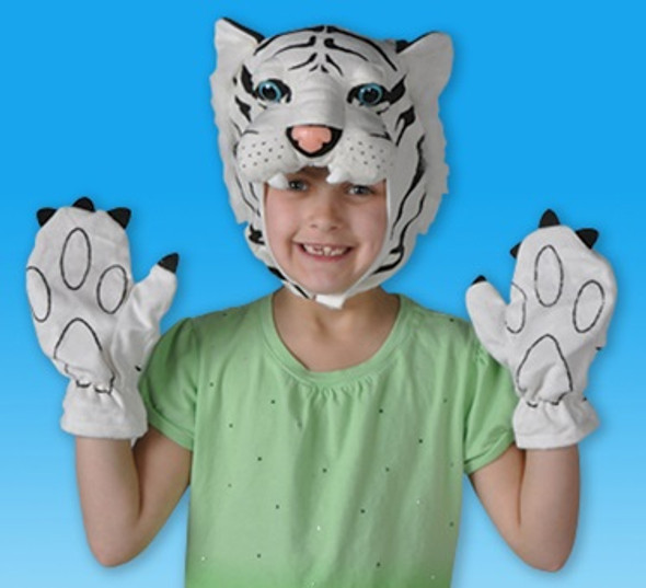 Tiger Hat and Gloves Set 5899
