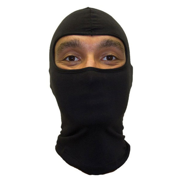 Ninja Mask Black One Hole Ski Mask Poly/Cotton 12 PACK 3052