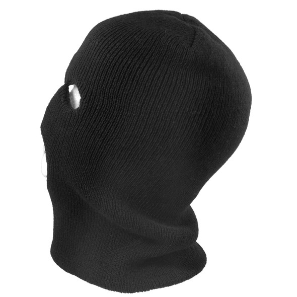 Three Hole Knit Ski Mask - Black 3056