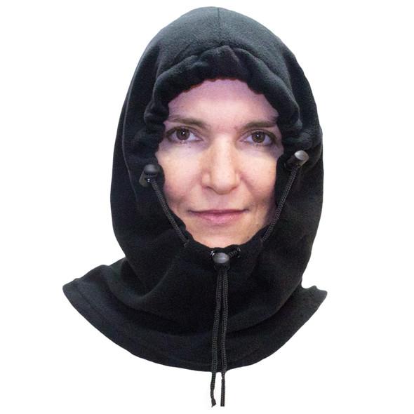 Black Polar Fleece Hat |  Adjustable Balaclava | 3063
