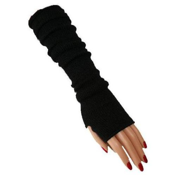 Black Knit Arm Warmers PAIR 1245