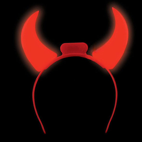 Light Up Devil Horns 12 PACK 1682