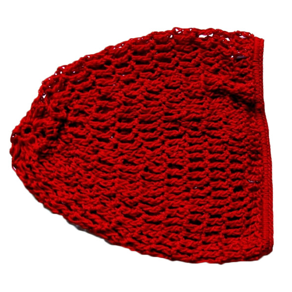 12 PACK Red Crochet Hair Snood 6620
