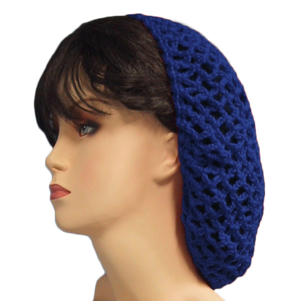 12 PACK Navy Blue Crochet Hair Snood 6622