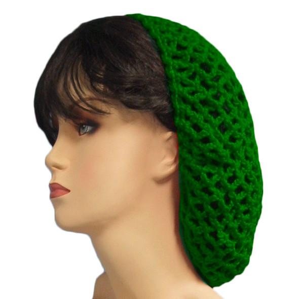 Kelly Green Crochet Hair Snood 6625