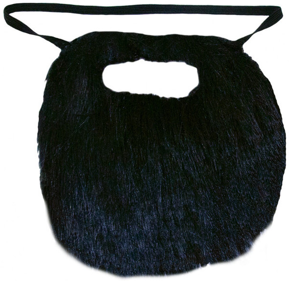 "Black Standard 6"" Inch Beard and Moustache 1690"
