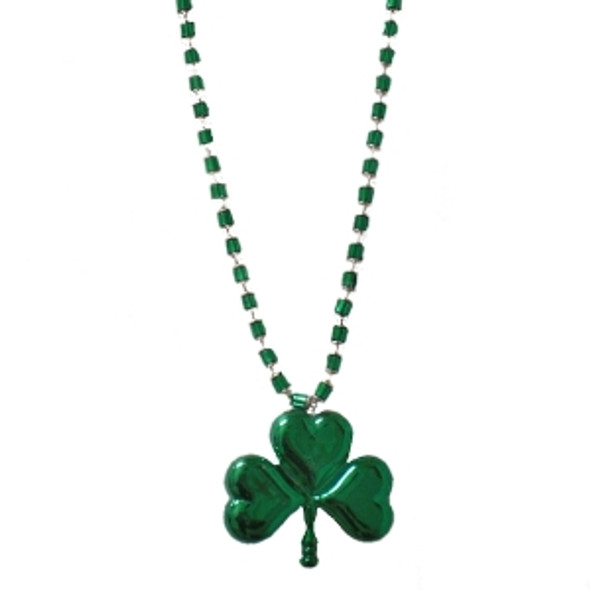 St Patricks Day Beads Jumbo Shamrock Beads Necklace 6560