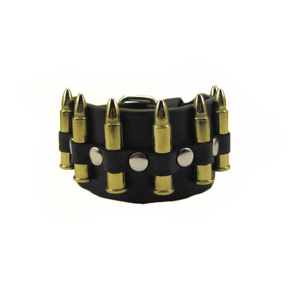 Gold Bullets Biker Wristband 6508
