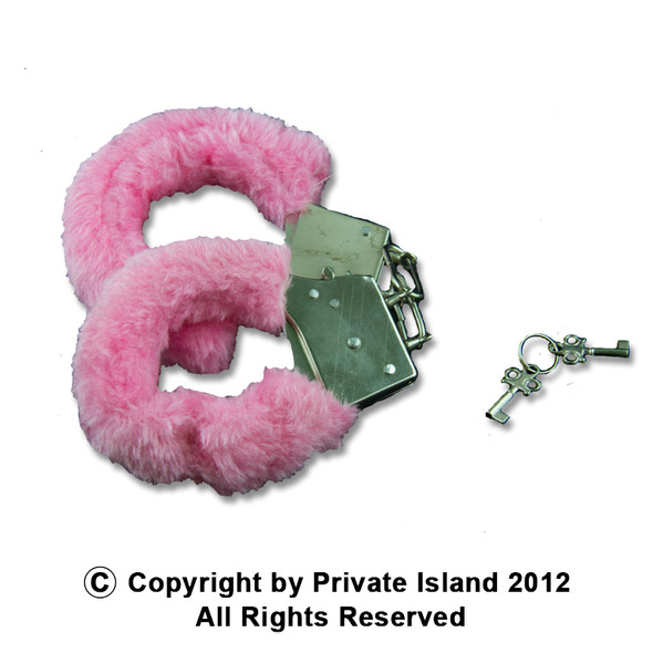 Pink Furry Handcuffs | Wholesale Pink Handcuffs | 1817 10 PACK