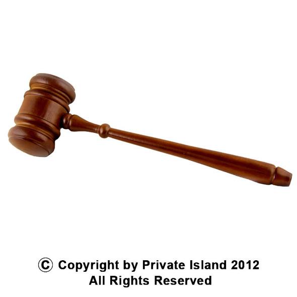 Wooden Judge Gavel 1601