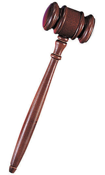 Wooden Judge Gavel 1601