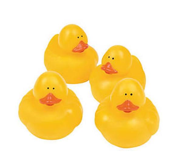 12 PACK Rubber Ducks in Bulk | Yellow 87344