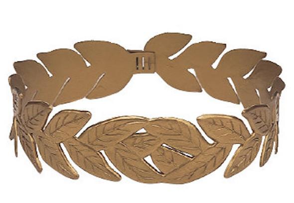 Gold Laurel Roman Headband 1709