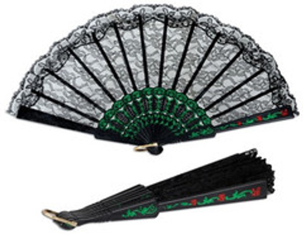 Black Lace Fiesta Fan 1892