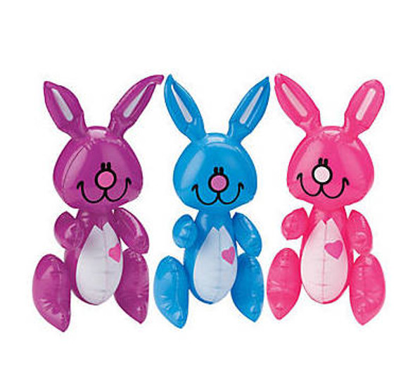 "Inflatable Bunnies 14"" 12 PACK 1898"
