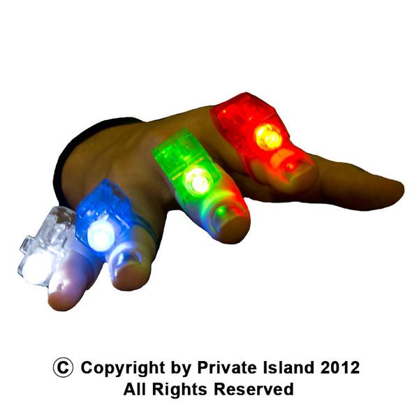 12 PACK Finger Lights Mix Colors 9023