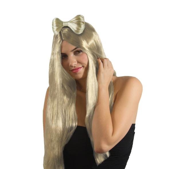 Bow Hair Clip Blonde 6652