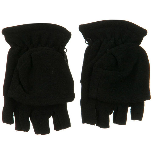 Fleece Fingerless Gloves |  With Mittens 5008