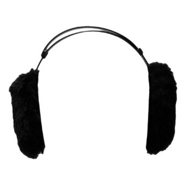 Furry Ear Warmers Black 6705