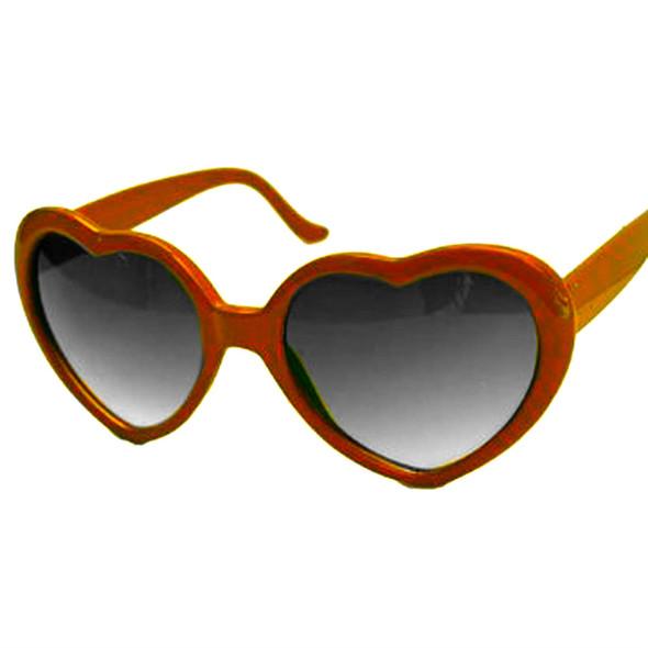 Orange Child Lolita Heart Shape Sunglasses 1022