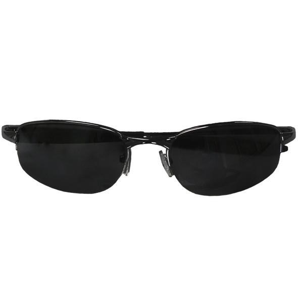 UV 400 Sports Sunglasses Black Fishing Metal Half Frame/Black Lens 1116