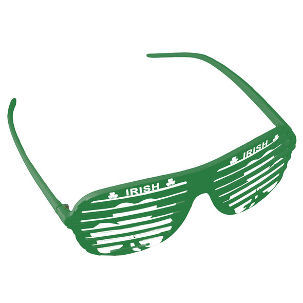 St Patricks Day Glasses Green Shamrock Irish Shutter Shades 1167