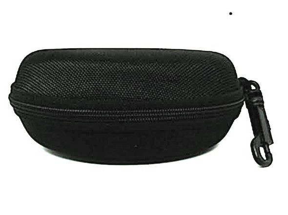 Large Eyeglass Case With Zipper Black 12 PACK 7013