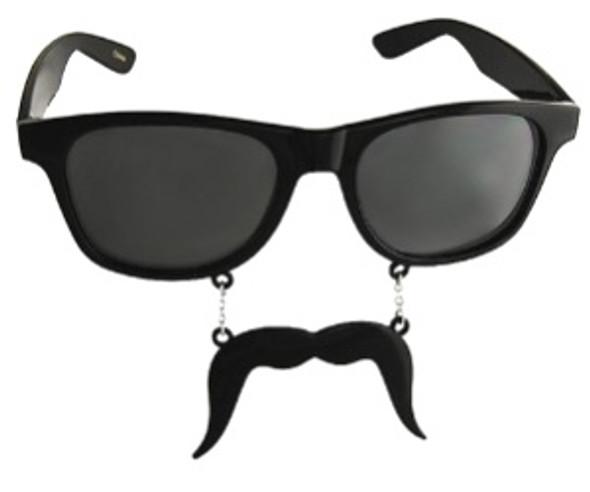 Mustache Vintage 80's Adult Style Sunglasses Incognito S1 Black Velvet Dark 7097