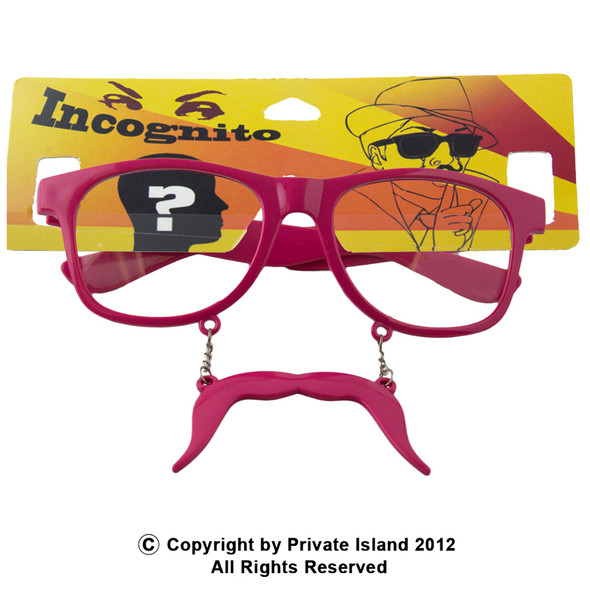 Pink Mustache Sunglasses Incognito Adult Sunglasses Vintage 80 Style Sunglasses 7098