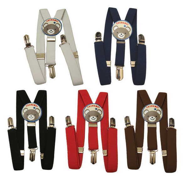 12 PACK Child Suspenders Mix Colors 1295A