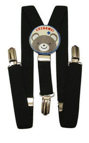 "Black Child Suspenders 30"" Standard Size 1295"