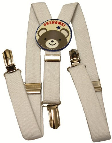 White Child Suspenders 1298