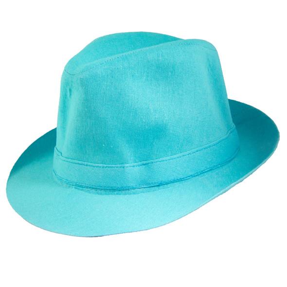 Classic Aqua Fedora Hat 1324