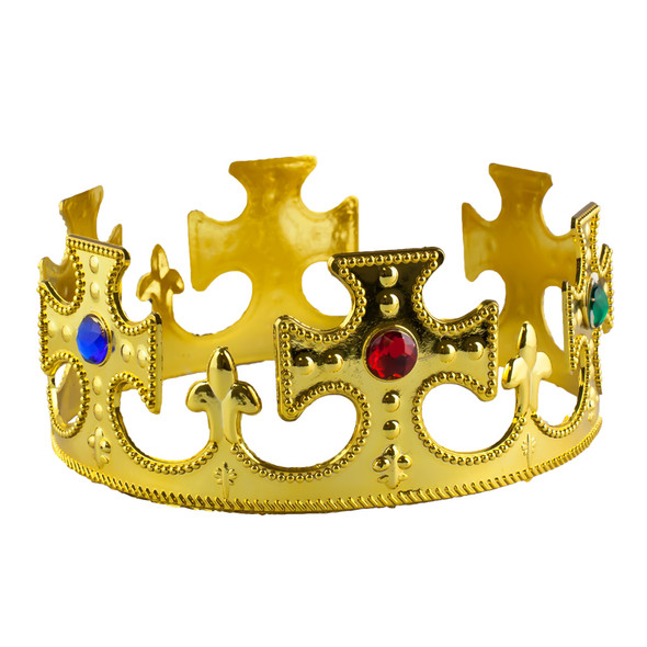 Gold King Costume Crown 1440