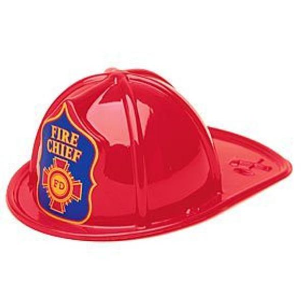 "Fireman Hat Adult Plastic 22.5"" Standard 12 PACK 1511"
