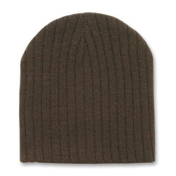 Brown Short Cable Beanie 5711