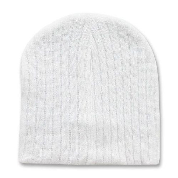 White Short Cable Beanie 5713
